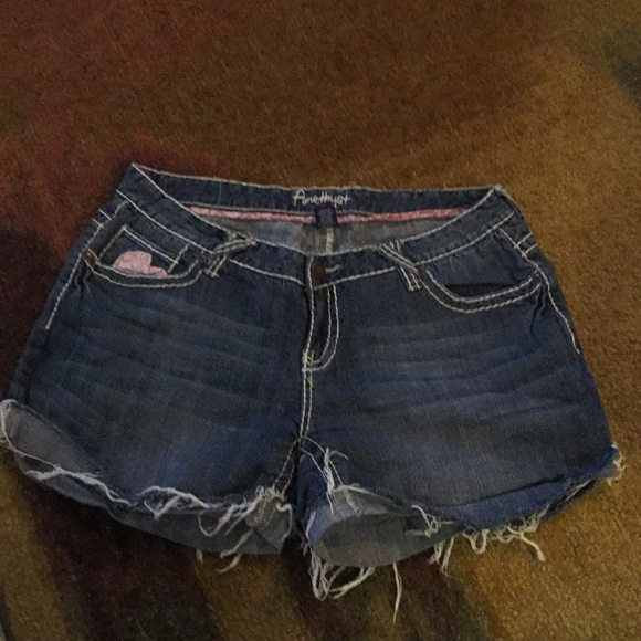 Amethyst Jeans Pants - Amethyst Shorts